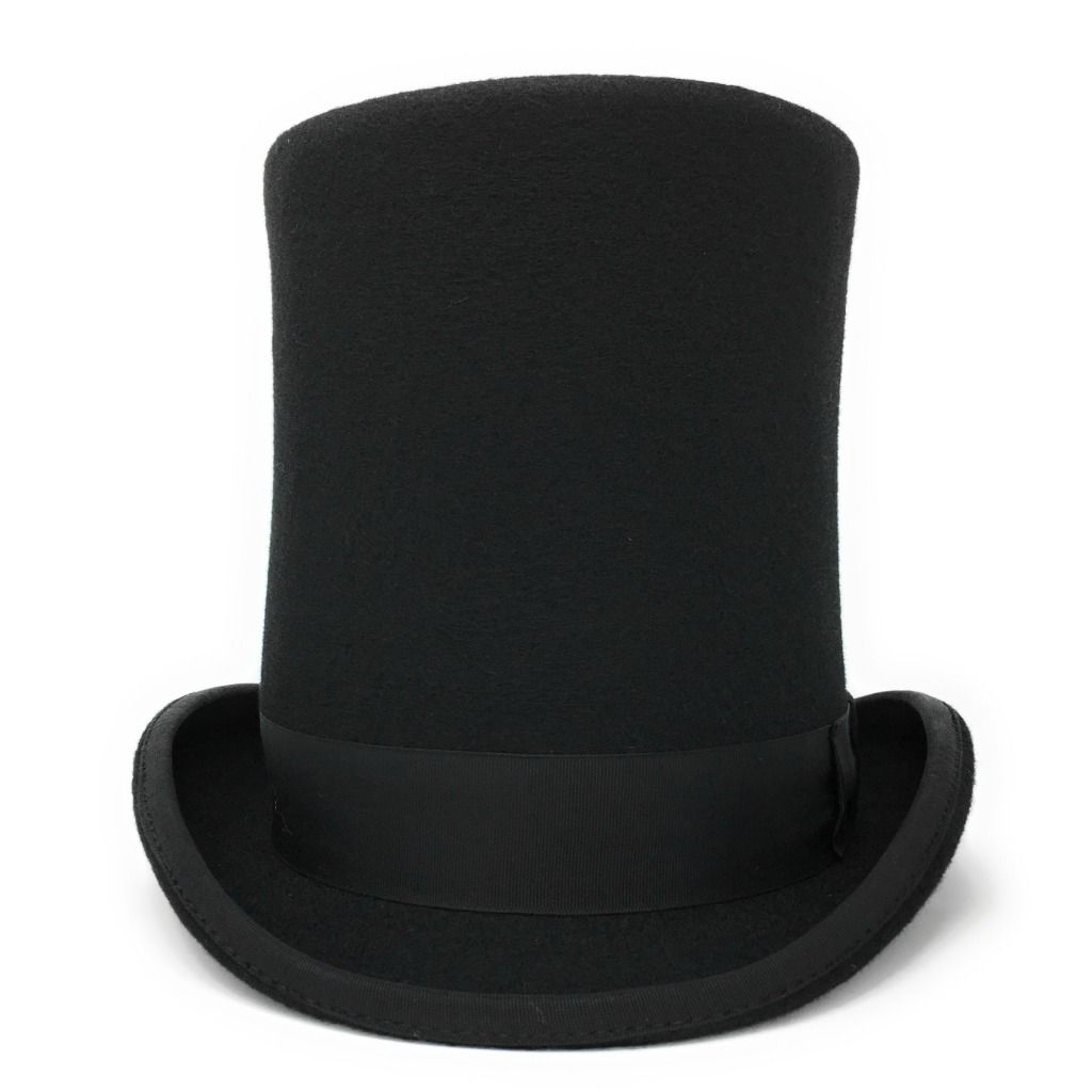 e24679542 Black Stovepipe Wool Felt Top Hat 8 Tall